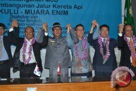 Enam perusahaan tandatangani MOU rel KA Bengkulu-Sumsel