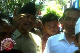 Jokowi Kampanye Blusukan ke Pasar Seni Sukawati