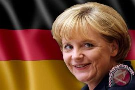 Merkel bahas situasi Ukraina dengan pemimpin Latvia