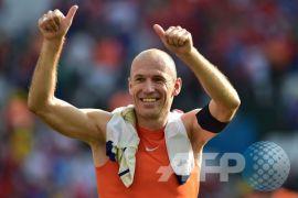 Robben pensiun setelah Belanda gagal ke Piala Dunia