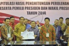 KPU Tetapkan Jokowi-JK Sebagai Presiden dan Wapres Terpilih