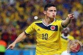 James Rodriguez antar Kolombia ungguli sementara Ekuador 2-0