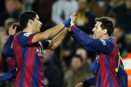 Barcelona ungguli City 2-0 di paruh pertama