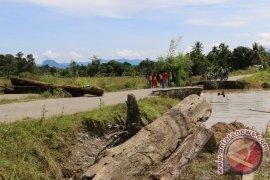 Jalan Desa Aceh Selatan Putus Akibat Banjir
