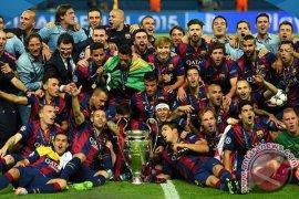 Delapan pemain Barca masuk nominasi tim terbaik Eropa
