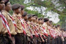 Pengukuhan 46 anggota Saka Bhayangkara di perbatasan