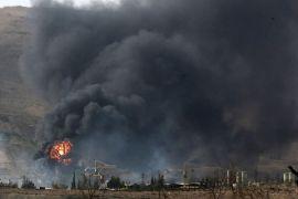 Ledakan besar dekat Bandara Damaskus, ulah Israel?