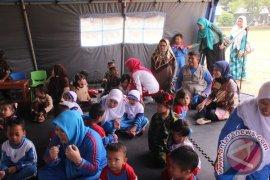 Puluhan Pelajar Paud Ikuti Simulasi Penanggulangan Gempa