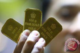 Harga emas naik dengan topangan pelemahan dolar AS