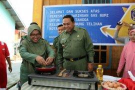 Wali Kota Bontang Resmikan Jaringan Gas Gunung Telihan