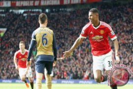 Rashford Cetak Dua Gol Saat United Taklukkan Arsenal