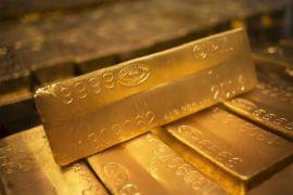 Harga emas turun ketika ekuitas dan dolar menguat