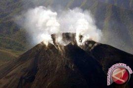 Gunung di White Island Selandia Baru  meletus