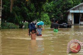 Banjir masih rendam desa di Sungai Teweh