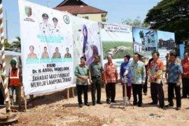 Gubernur Lampung Letakkan Batu Pertama Pembangunan Gedung Adm dan Pelayanan RSUDAM