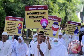 Puluhan santri pesantren Muhammadiyah surabaya sambut Ramadhan