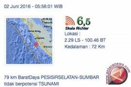 Gempa 6,5 skala Richter guncang Padang Kamis pagi