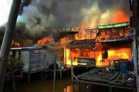 36 Ruko Pasar Sungai Baru Sambas Ludes Terbakar