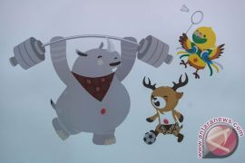 Artikel Asian Games : Bhin-bhin, Atung, Kaka mulai menyapa dimana-mana