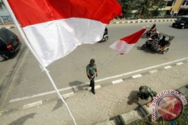 TNI Kibarkan 1.000 Bendera