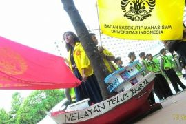 Ketua BEM UI ikut orasi di DPRD Riau