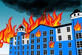 Kebakaran hanguskan rumah di pemukiman padat penduduk