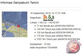 Gempa 5,1 SR guncang Jayapura