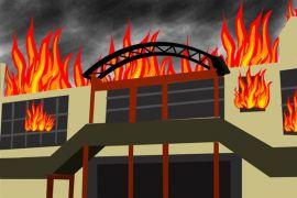 Kantor BNN Dumai terbakar