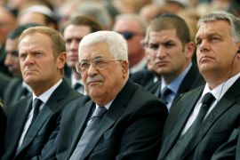 Presiden Abbas dan PM Netanyahu bertemu di upacara pemakaman Peres