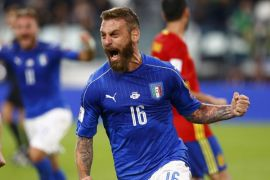 Italia vs Spanyol berkesudahan imbang 1-1