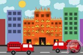 Gedung Kemenkumham terbakar