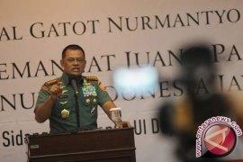 Panglima TNI perintahkan prajuritnya bertangan kosong amankan demonstrasi