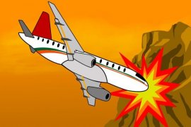 Pesawat militer Aljazair jatuh, 2 pilot tewas
