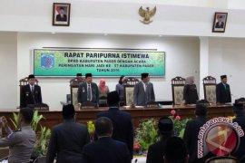 DPRD Paser Gelar Rapat Paripurna Istimewa