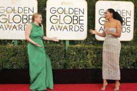 Sejumlah selebriti melenggang di red carpet Golden Globes