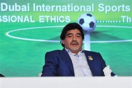 Maradona beri dukungan moral setelah Argentina kalah telak