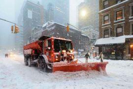 Jutaan dolar AS untuk bersihkan salju di New York