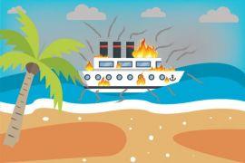 Kapal tanker Pertamina di Banjarmasin terbakar
