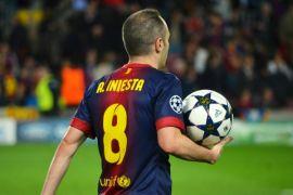 Kekecewaan Iniesta atas tersingkirnya Barcelona dari Liga Champions