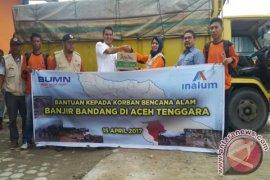 Inalum Bantu Korban Banjir Aceh Tenggara