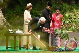 Raja Carl XVI Gustaf tanam pohon kayu besi di Istana Bogor