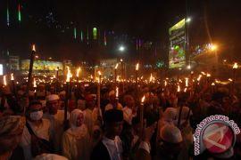 Ribuan muslim Pamekasan pawai obor sambut Ramadhan