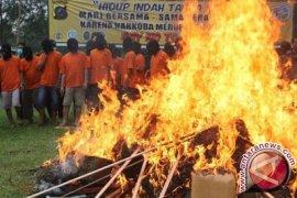 Polisi Musnahkan Barang Bukti Ganja Dan Sabu-sabu