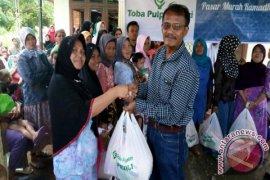 PT Toba Pulp Lestari Gelar Pasar Murah Ramadhan di Tapanuli Selatan