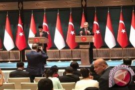 Jokowi-Erdogan saksikan penandatangan dua dokumen kemitraan