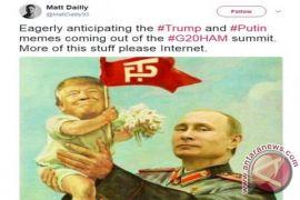 Berbagai meme ejekan saat Trump bertemu Putin