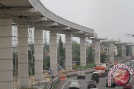 Jalur LRT Jakarta dan Jabodebek akan bersisian di Dukuh Atas