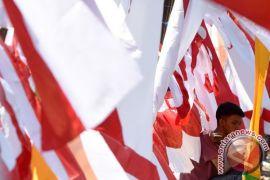"""Ribuan TKI """"Merah Putih""""-kan Hong Kong"""