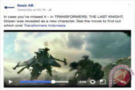 Pesawat JAS39 Gripen muncul di Transformer: The Last Knight