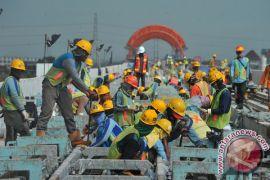 Pekerjaan LRT Palembang sudah 70 persen